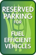 Image of Stonehouse Signs Reserved Parking for Fuel Efficient Vehicles Sign