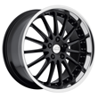 Jaguar Wheels by Coventry - the Whitley in Gloss Black with Mirror Cut Lip