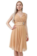 Gold rushed bodes dress