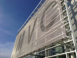 Cambridge Architectural metal mesh installation at Moreno Valley College