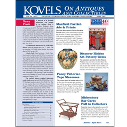 kovel, antiques, collectibles, midcentury modern, maxfield parrish, sewing, lamp, art pottery, prices