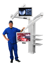 Visualization, Equipment Manager, Eronomic Boom System for Surgery
