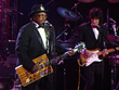 The legendary Bo Diddley performing at the 1989 Inaugural concert.