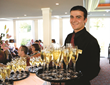 Champagne service aboard an AmaWaterways riverboat
