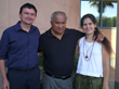 Imre Kabai, Coach Willy Cahill, Kinga Kabai at a Judo Tournament