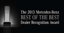 Mercedes Best of the Best 2013 Award