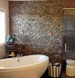 FauxPanels.com Stacked Stone Accent wall for Bathrooms