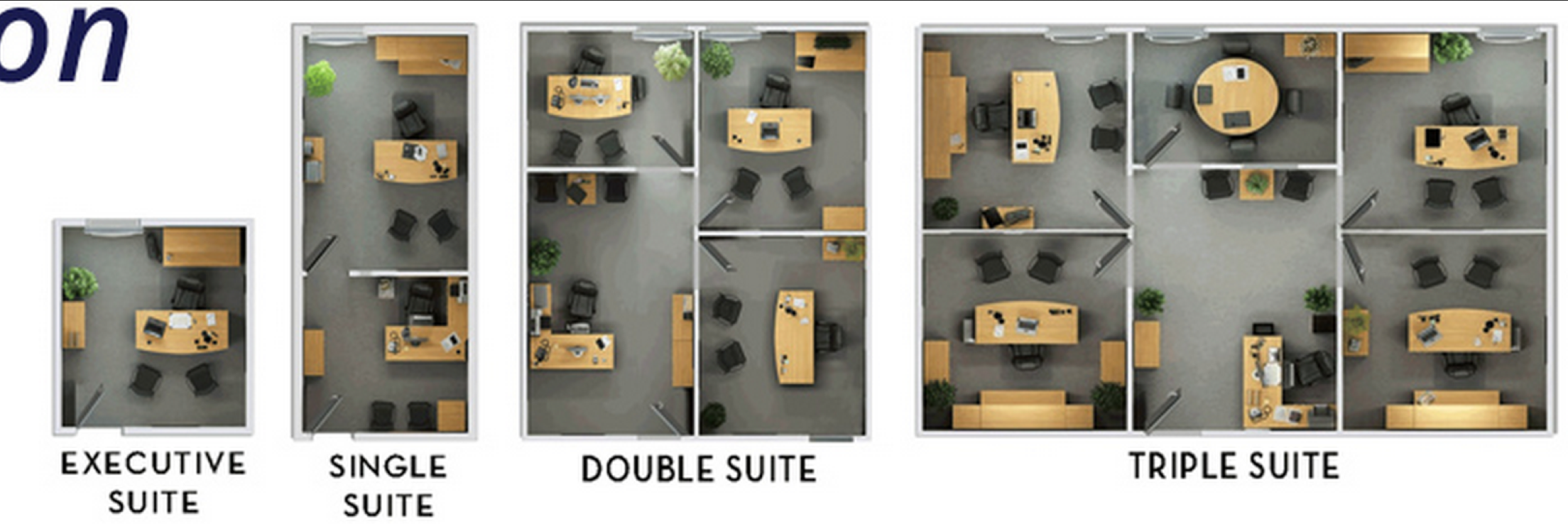 small office layouts. single suite and multi oddice layouts entrepreneurs small office