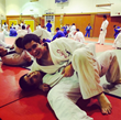 Peter and Brother Janos Kabai on Judo Mat