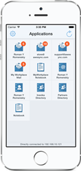 Lotus Notes Mobile Workspace on iPhone