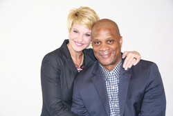 Darryl Strawberry and his wife Tracy