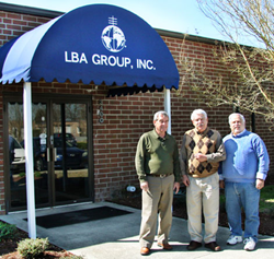 LBA's new COO, Mike Britner with CEO Lawrence Behr and LBA's previous COO Jerry Brown