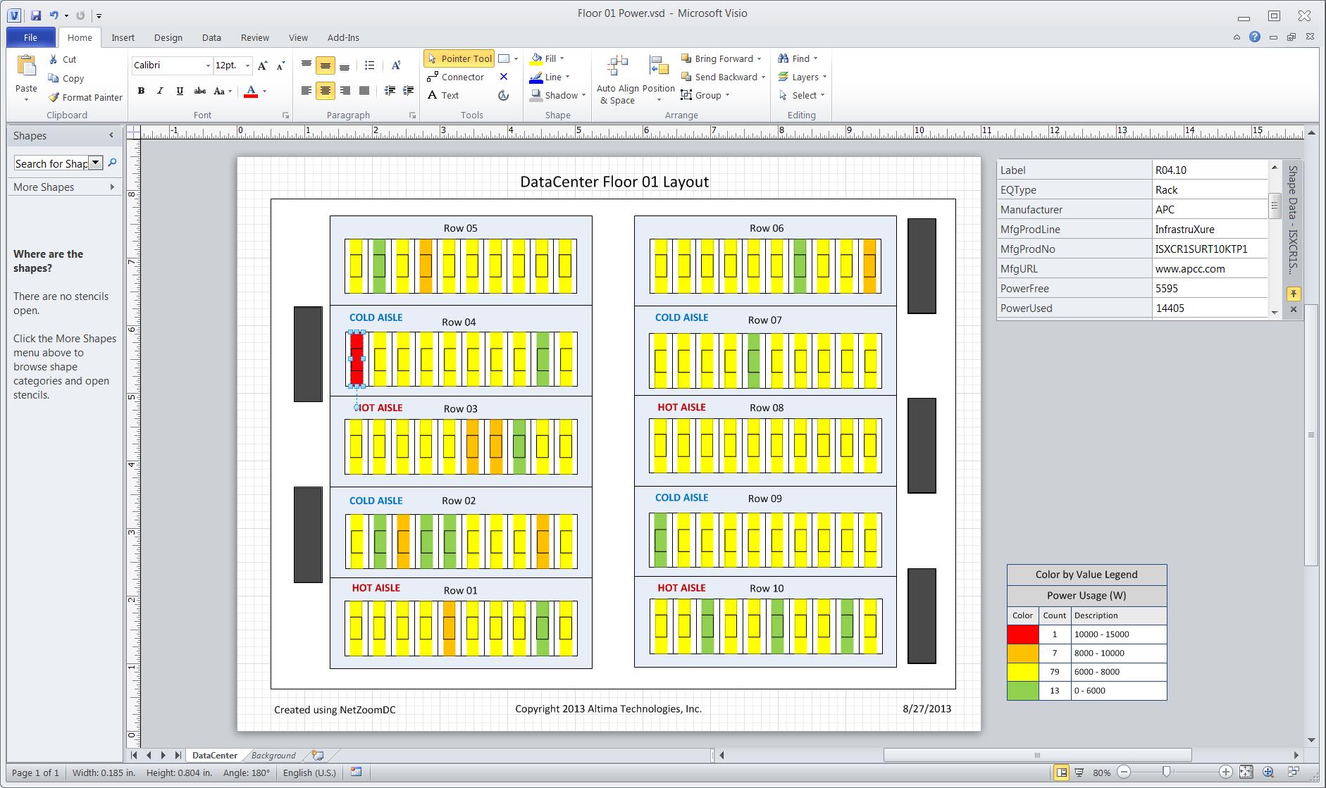Fancy visio data center template image professional for Data center floor plan