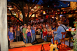 County Line Music Series at night