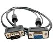Ultra Slim SVGA Cable with Ferrites HD15 M/F Triple Shielded