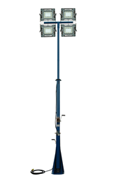 Twelve to Twenty Foot Telescoping Mast with Two Hand Winches for Operation