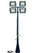 Telescoping Light Mast with four 150 Watt LED Light Heads