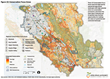 Map of Santa Clara County with 10 designated high priority conservation areas