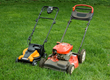 Green to WORX IntelliCut mower compared gas-powered model