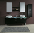 "James Martin Solid Wood 72"" Double Sink Bathroom Vanity w/Legs, Espresso 147-513-DB-5831"