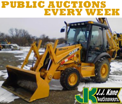 Philadelphia, PA Public Auction April 12th, 2014 Used bucket trucks, backhoes, pickup trucks