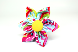 Sweet Summertime Removable Dog Collar Flower from Four Black Paws