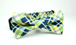 Grassy Meadow Plaid Removable Bow Tie
