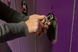 Danville students chose their school color of purple for the new lockers.
