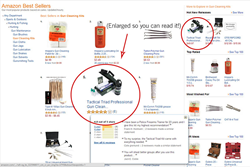 Proof that Tactical Triad was in the Top 5 Gun Cleaning Kits on Amazon