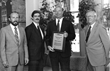 John Hoffman & Ed Edgette receiving Supplier of The Year Award 1984 from Dittman Incentive Marketing