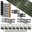 Double Motorcycle Tie Down Kit, Olive