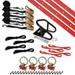 image of Honda red motorcycle tie down kit from US Cargo Control