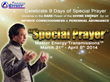 Join the 9 Days of Special Prayer Master Energy Transmissions™ and...