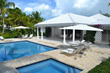 The private swimming pool and jacuzzi of Palm Point, Jolly Harbour, Antigua