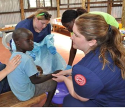 Linfield ADP nursing students provide medical care to children in Kenya