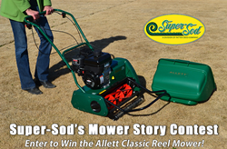 Super-Sod wants to hear stories about lawn mowers!