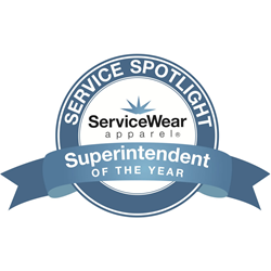 ServiceWear Apparel's Superintendent of the Year Award Logo