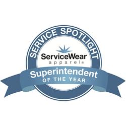 ServiceWear Apparel's Superintendent of the Year Award Logo