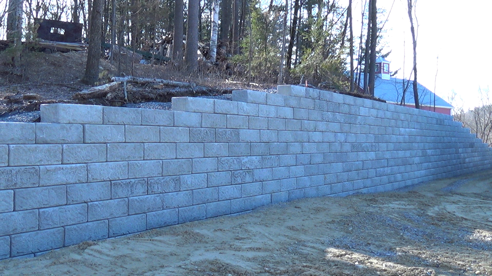 Shea Concrete Recon Retaining Wall Completed For