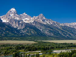 Grand view of the Teton mountain range