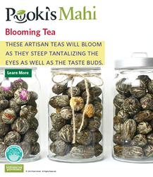 Pooki's Mahi Award-Winning Blooming Tea BUY @ pookismahi.com/collections/blooming-tea