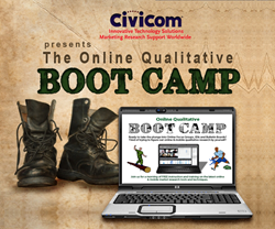 Online Qualitative Boot Camp | Civicom Marketing Research Services