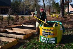 A BigYellowBag and Doc's Raised Garden Kits