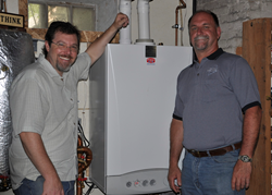 Innkeeper has plenty to smile about as Baxi gas wall-hung boiler cuts his energy use and costs by up to 67 per cent.