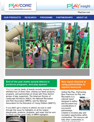 PlayCore, play, fitness, newsletter, active lifestyles, healthy behavior