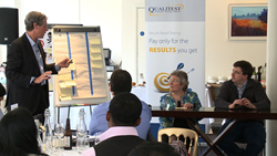 """Making Agile Work for You"" was facilitated by Richard Brooks, VP of QualiTest UK."