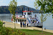 Photo Courtesy of the West Virginia Department of Commerce.  The Island Belle sternwheeler takes visitors to and from Blennerhassett Island State Park near Parkersburg. It also is available for charte