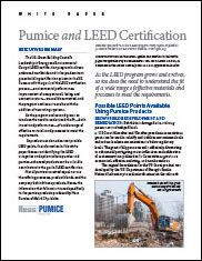 Pumice and LEED Certification