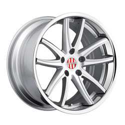 Porsche Wheels by Victor Equipment - the Kronen in Silver with Brushed Face and Chrome Lip
