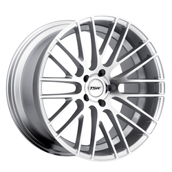 Alloy Wheels by TSW - the Parabolica in Silver with Mirror Cut Face